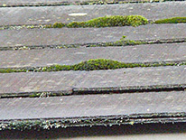 屋根に使われている棟板金